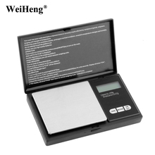 WeiHeng 200g / 0.01g Precision Pocket Weighing Balance Mini Digital Jewelry Scales Electronic Libra Gold Diamond Gram Scale(China)