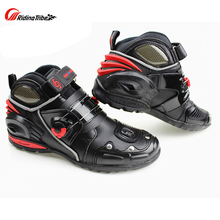 Riding Tribe Men's Moto Racing Motorcycle Motocross Boots Micorfiber Leather Breathable Motorbike Outdoor Sports Shoes(China)