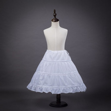 Cheap Three Hoops White Girls Petticoats Suitable For Fluffy Children Kid skirt Cute Underskirts For Pageant Gowns