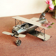 3 Type Vintage Aircraft Metal Plane Model New Year Kids Gifts Home Decoration Crafts Collection Wheels Can Be Moved(China)