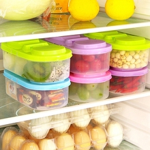 2 Grid Plastic Food Storage Container Fresh Keeping Refrigerator Crisper Box Storing Crisper Kitchen Kit