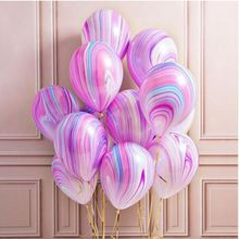 1 Pack Inflatable Balloon Marble Agate Number Star Rose Bouquet For Baby Kids Birthday Party Christmas Decoration Inflatable Toy(China)