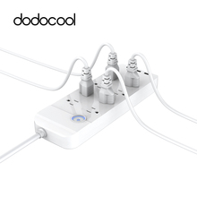 dodocool Smart Power Adapter Extension Socket Electric Plug 3 USB Charger Power Strip with 8 Outlet Standard Socket for Phone PC