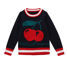 MUQGEW kids clothing 2018 Toddler Baby Girls Clothes with Cherry Sweater Knit Pullovers Warm Long Sleeve Coat Outerwear Clothes(China)