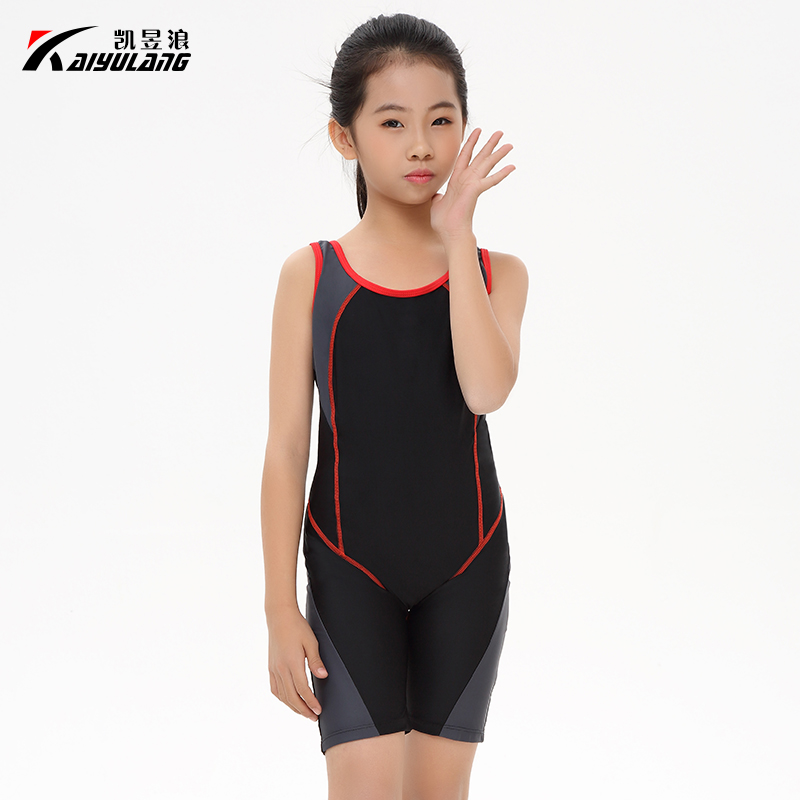 PREETEE Swimwear Chidren Swimsuit Girls Sports One Piece Suits Competitive Swimming suits Racing Knee Length Swim Suit Bodysuits<br>