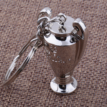 2017 Europe football trophy Key chain Zinc Alloy Keychain  Pendant Key ring european cup souvenir gift