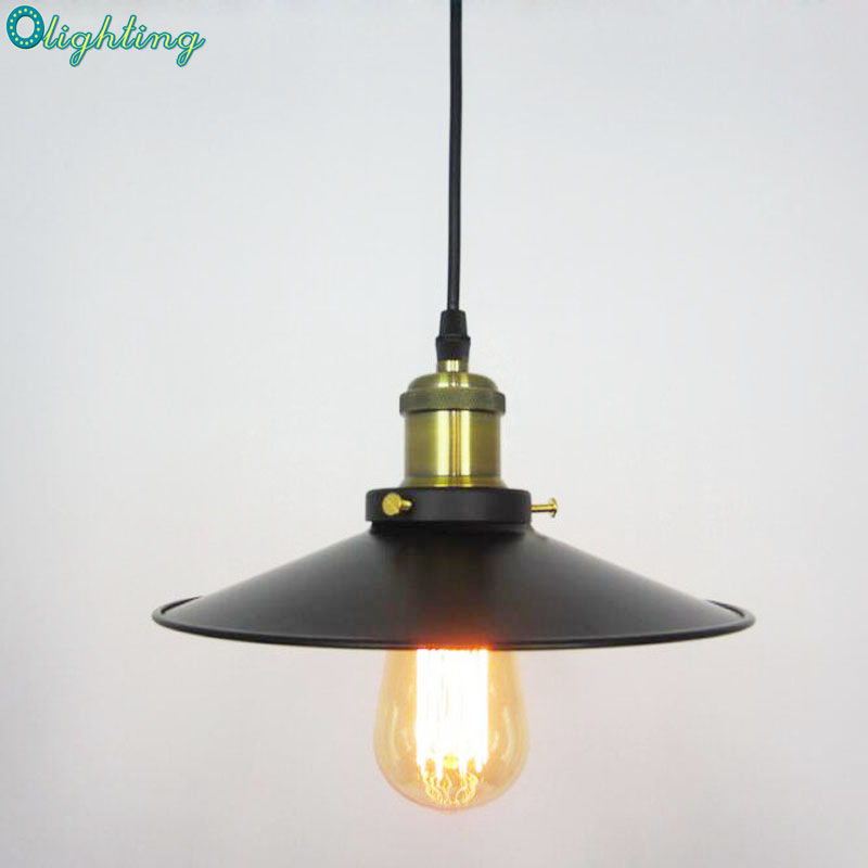 Restaurant Creative Single Head Metal Modern Pendant Lights Vintage Retro For Dining Room Retro industrial style pub stage<br>