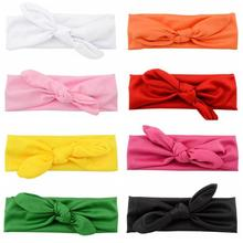 8 Colors On Sale Kids Girl Headbands Soft Rabbit Ears Bow Hair Bands Rubber Bands Headband Bowknot Headwear Hair Accessories(China)