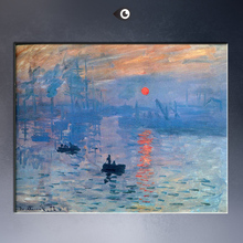 IMPRESSION SUNRISE, landscape 1872 Giclee Print By Claude Monet on canvas free shipment