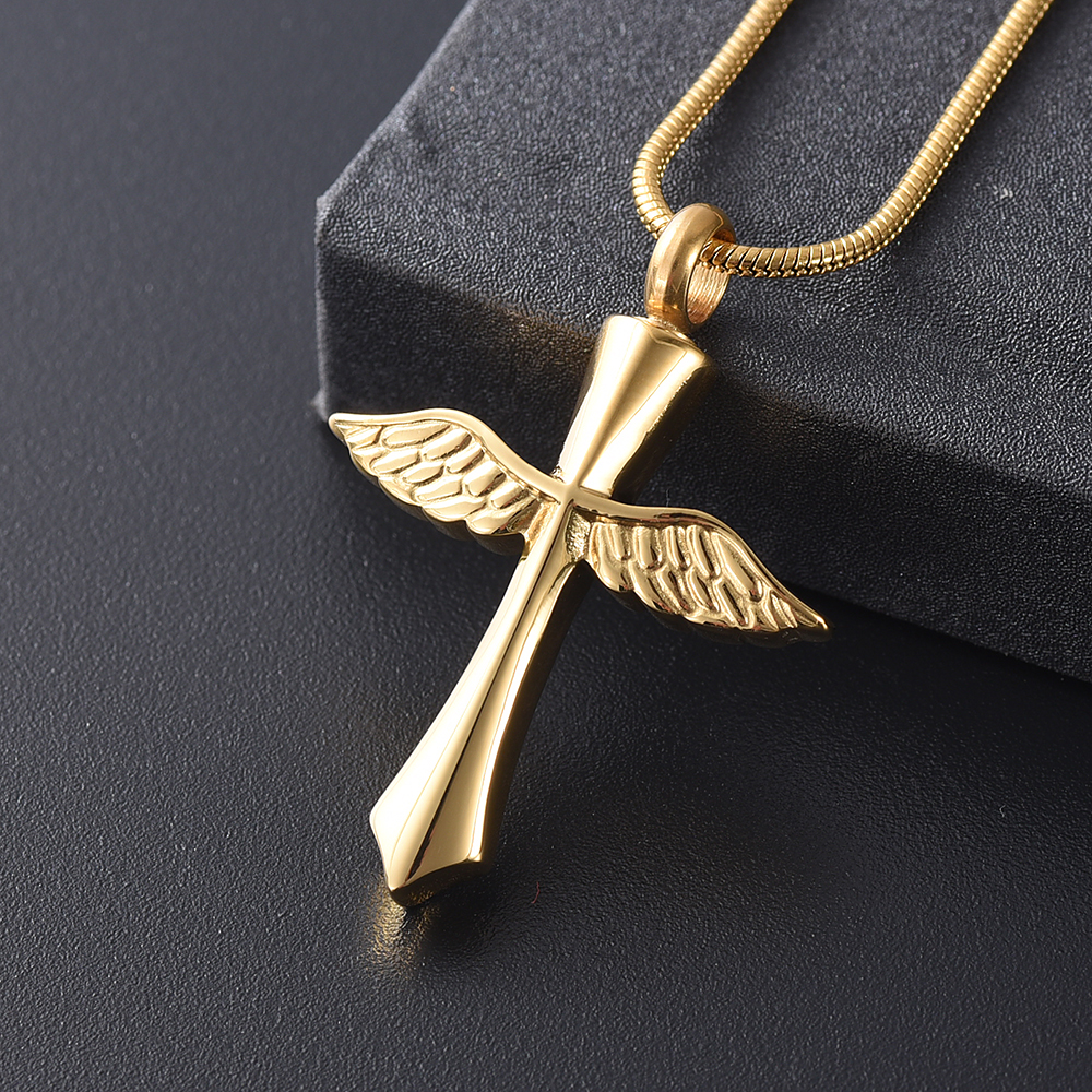 Angel Wing Fairy Cremation Jewelry for Ashes Stainless Steel Hold Loved Ones Ash Keepsake Memorial Urn Necklace