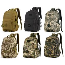 40L Large Outdoor Assault Backpack Tactical Army Backpack with Side Pouches Waterproof Travel Daypack