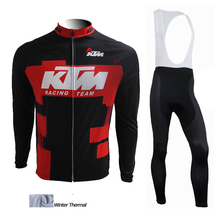 Winter thermal fleece cycling jersey 2015 KTM bike clothes ropa ciclismo invierno bicycle winter cycling clothing sport wear