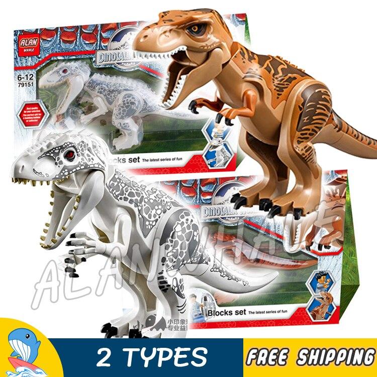 Bela 79151 Jurassic World Indominus rex Building Blocks Zach Simon Masrani dinosaur Compatible With lego<br>