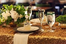 Gold Sequin Tablecloth Wedding Cake Tablecloth 48 Inch By 80 Inch Rectangle Sequins Table for Wedding Decoration 120cmX2000cm(China)