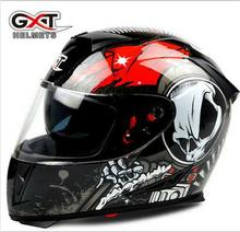 new arrivel GXT 358 anti-fog dual lens full face helemt capacete cascos motorcycle helmet motoqueiro electric car Safety helmets(China)