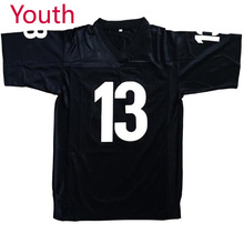 Youth Willie Beamen #13 Any Given Sunday Sharks Football Jersey Jamie Foxx BLACK for kids(China)