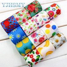 Free ship YJHSMY 173251,38mm flower Printed grosgrain ribbon,DIY handmade,Wedding decoration materials,Valentine's Day essential(China)