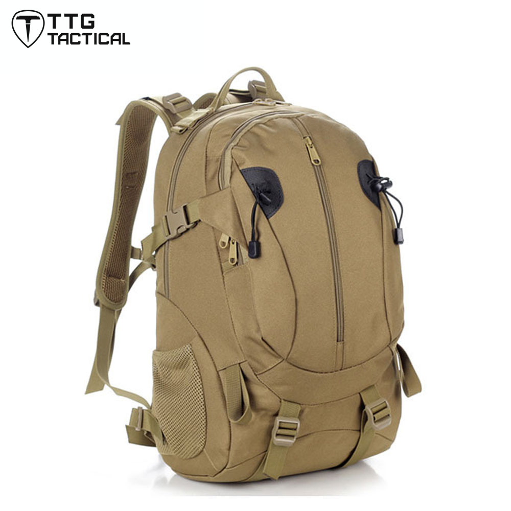 40L Waterproof Nylon Military Backpack  Combat Assault Backpack Durable Heavy Duty Army Backpacks<br>