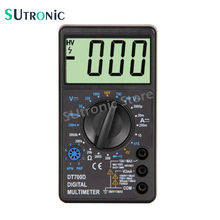 DT-700D Mini Large Screen Digital Multimeter with Buzzer Overload protection Square Wave Output Voltage Ampere Ohm Tester Probe