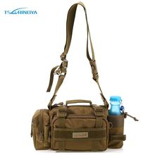 TSURINOYA Fishing Bag Multifunctional Outdoor Sport Fishing Reels Lure Waist Pack Pouch Pole Package Fishing Tackle Bag