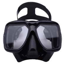 Scuba diving mask black freediving goggles Tempered glasses antifog with Adjustable strap(China)