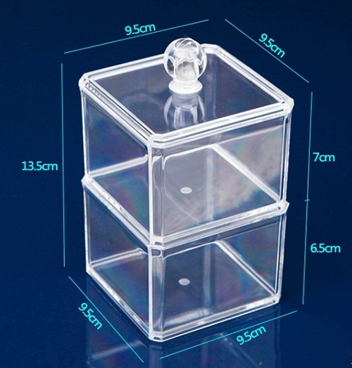 Acrylic-Swab-box-Nail-Polish-Skin-care-products-Storage-organizers-Jewelry-case-casket-Cosmetics-collection-Double