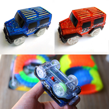 Glowing Racing Set for Kids LED Light Up Magic Cars Electronics Car Toys With Flashing Lights Fancy DIY Toy Cars For Kid