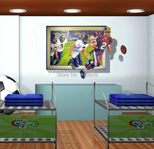 2015 new arrived style unique 3d rugby frosted personality fashion creative wall stickers decoration living kids room AY8010
