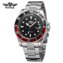 T-Winner High End New Product Men's Watch Stainless Steel Bracelet Automatic Self-Wind Silver Color Dots Wristwatch WRG8066M4
