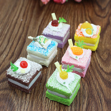 Artificial Cake Model Set Home Decoration Exhibition Children Teaching Props Artificial cake(China)