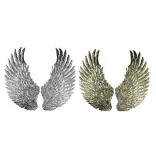 1 Pair Embroidered Sequins Angel Wing Iron Sew on Patches Clothing DIY Applique Cloth Decoration MAYITR