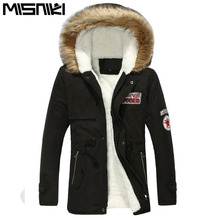 MISNIKI Hot Selling Autumn Winter Long Parka Men Casual Slim Fit Hood Winter Jackets Mens Lovers Coat (Asian Size)