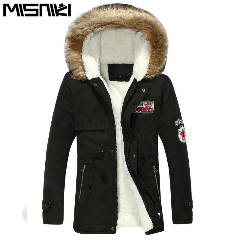 MISNIKI Hot Selling Autumn Winter Long Parka Men Casual Slim Fit Hood Winter Jackets Mens Lovers Coat (Asian Size)Îäåæäà è àêñåññóàðû<br><br>