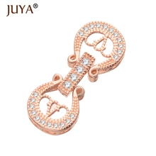 Diy Jewelry Findings High Quality Copper Cubic Zirconia Rhinestone Clasps for DIY Pearls / Beaded Chain Jewellery Accessories