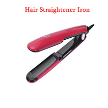 100% Original NASV Straightening Irons Electric LED Digital Control Fast PTC Heating Mini Hair Straightener Iron(China)