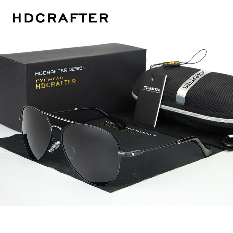 HDCRAFTER Mens Advanced Coating Sunglasses Polarized Outdoor Aviator Pilot Gafas Sunglasses Man Brand Designer Sun Glasses Gifts<br><br>Aliexpress