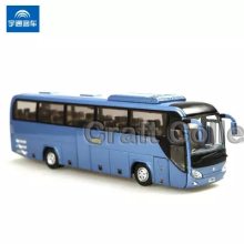 Blue 1:43 Yutong Bus ZK6127H Shenxingjian High Simulation Alloy Toy Bus Scale Models Passenger Station Wagon Diecast Model