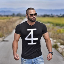 Buy Brand men's t-shirt Fitness bodybuilding Short sleeve t shirts Fashion Leisure Muscle Men Slim fit personality tees tops for $8.99 in AliExpress store