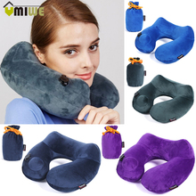 Automatic Inflatable U Shape Pillow 3D Hump Portable Memory Foam Neck Head Travel Nursing Neck Pillows For Flight Office Sleep(China)