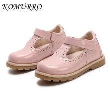 Kid Girls Leather Shoes Princess 2019 Spring Autumn Children s Shoes School Girl  Casual England Retro Wedding 5456791d0509