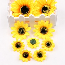 5pcs/lot artificial flowers silk sunflower wedding home decoration DIY wreath scrapbook gift box decoration fake flowers
