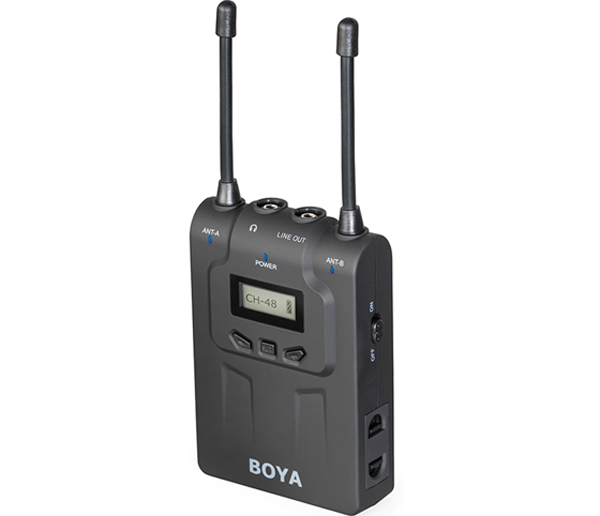 Boya WM8R Dual-Channel Wireless Receiver for WXLR8,WHM8,BY-WM8T,WM6 Transmitter