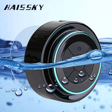 HAISSKY IPX6 Waterproof Bluetooth Wireless Shower Speaker Mini Handsfree With Mic FM Video Player Pocket Outdoor Loudspeakers(China)