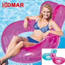 DMAR Inflatable Pool Float Chair Mattress Giant Pool Toy Sunbathe Beach Mat Swimming Ring Party Air Water Ride-on Summer(China)
