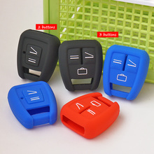 Silicone Rubber key fob cover skin set case shell protect for Opel Astra Zafira Vauxhall Vectra Omega 2 3 Buttons Remote Repair(China)