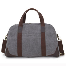Brand Canvas&Genuine Leather Large Capacity Men Handbag  Travel Bags Crossbody Shoulder Zipper Bag