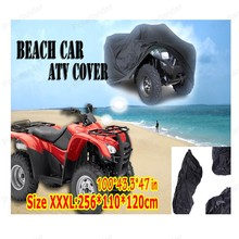 Universal ATV Cover All Terrain Vehicle Beach motorcycle Protect WaterProof Anti-UV Dustproof Quad Bike Cover black(China)