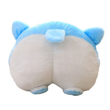 Funny Cute Butt Pillow Plush Toy,creative Car Pillow Doggy Ass Stuffed Warm Soft Animal Kids Pet Puppy Birthday Gift(China)