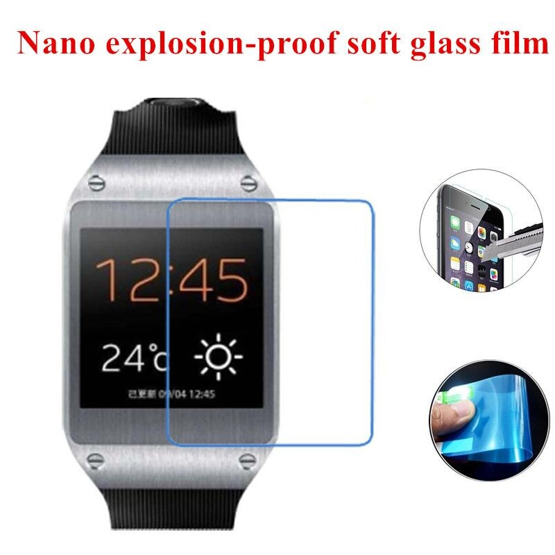 Nano Explosion-proof (Soft Glass) Clear Screen Protector Front Protective Film for Samsung Galaxy Gear V700(China (Mainland))