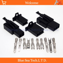 Sample,2 X 10 sets 2/3 Way/pin 2.8mm Electrical Connector Kits Male&Female sets for E-Bike,Motorcycle,Motorbike,car etc.Black